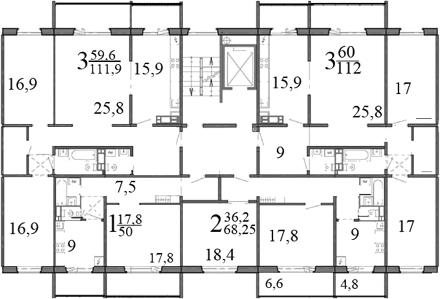 планировка 121 серии