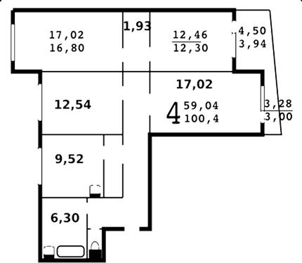 планировка помещений 121 серии домов