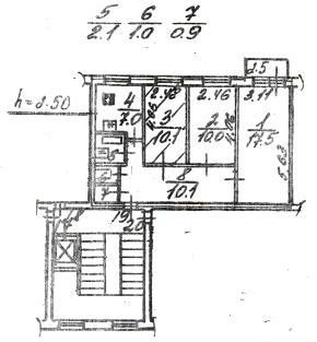 планировка квартиры 504 серии