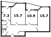 кирпичные дома - планировка 7