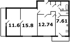 кирпичные дома - планировка 3